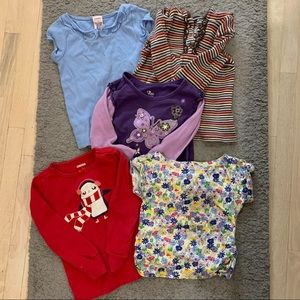 Bundle of 5 Baby Girls Clothes (3-4T)